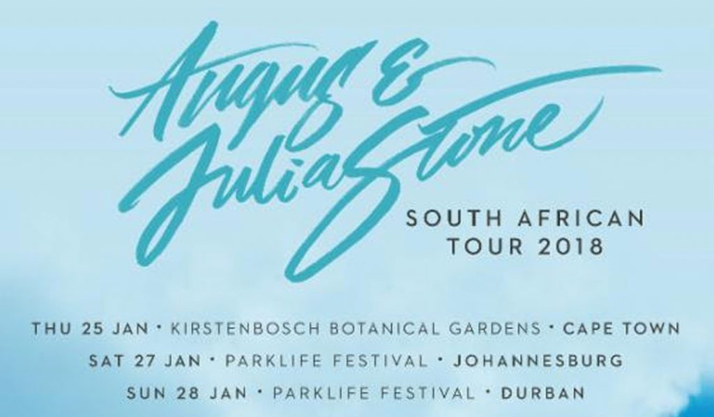 ANGUS & JULIA STONE :: SOUTH AFRICAN TOUR 2018